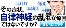 冷え性・しびれ・めまい・イライラ耳鳴り・不眠症・・・詳しくは今すぐココをクリック!!